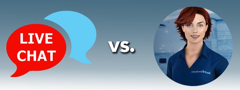 live chat vs virtual agent